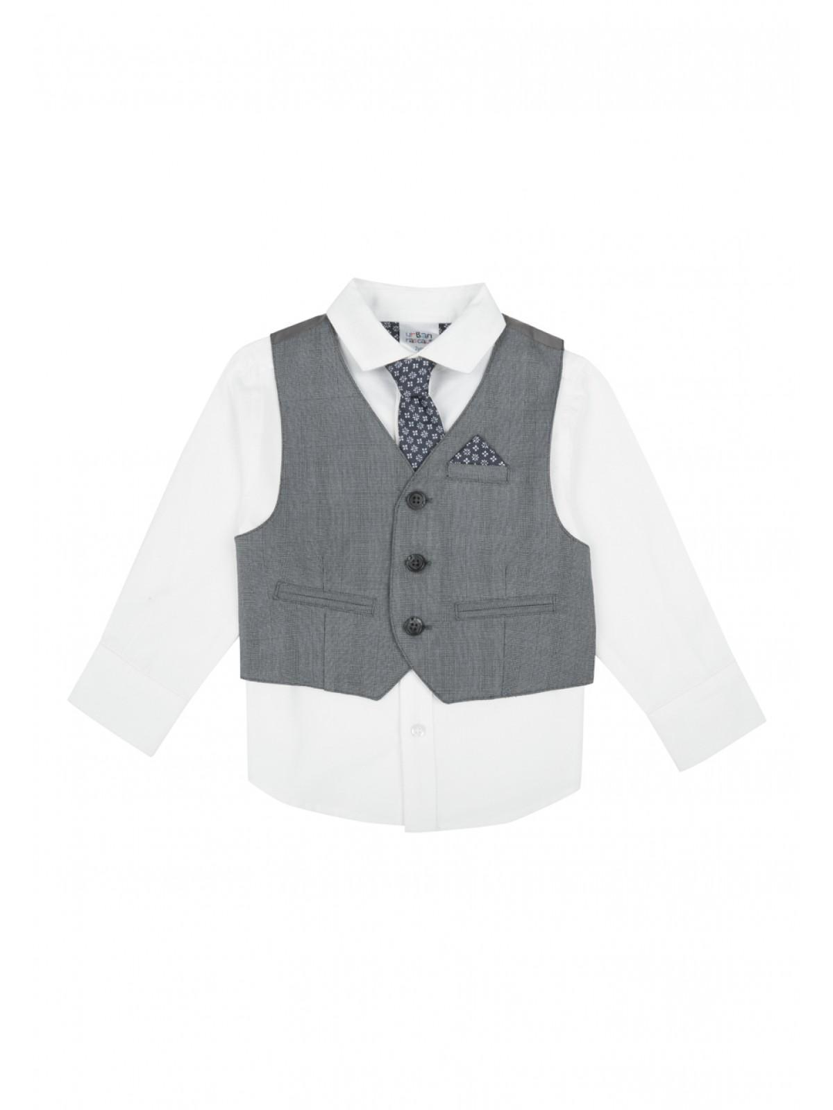 a2157cf7d9b62a Home; Younger Boys Long Sleeved Shirt, Tie & Waistcoat Set. Back.  PreviousNext