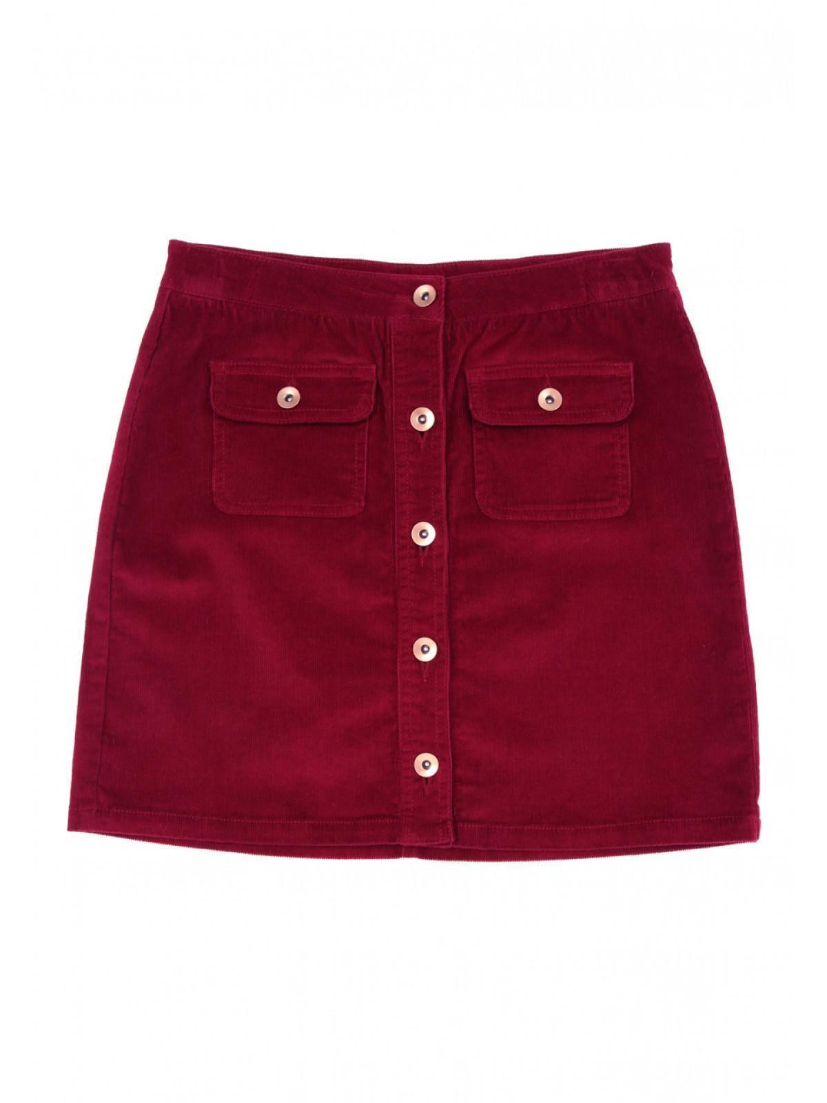 8e5561cc79 Girls Older Girls Purple Cord Button Through Skirt   Peacocks