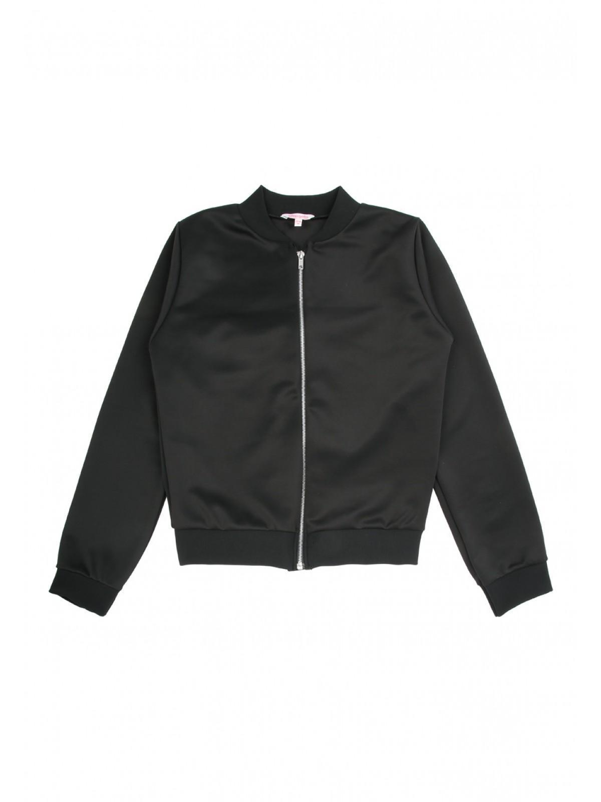 Girls Older Girls Black Bomber Jersey Jacket | Peacocks