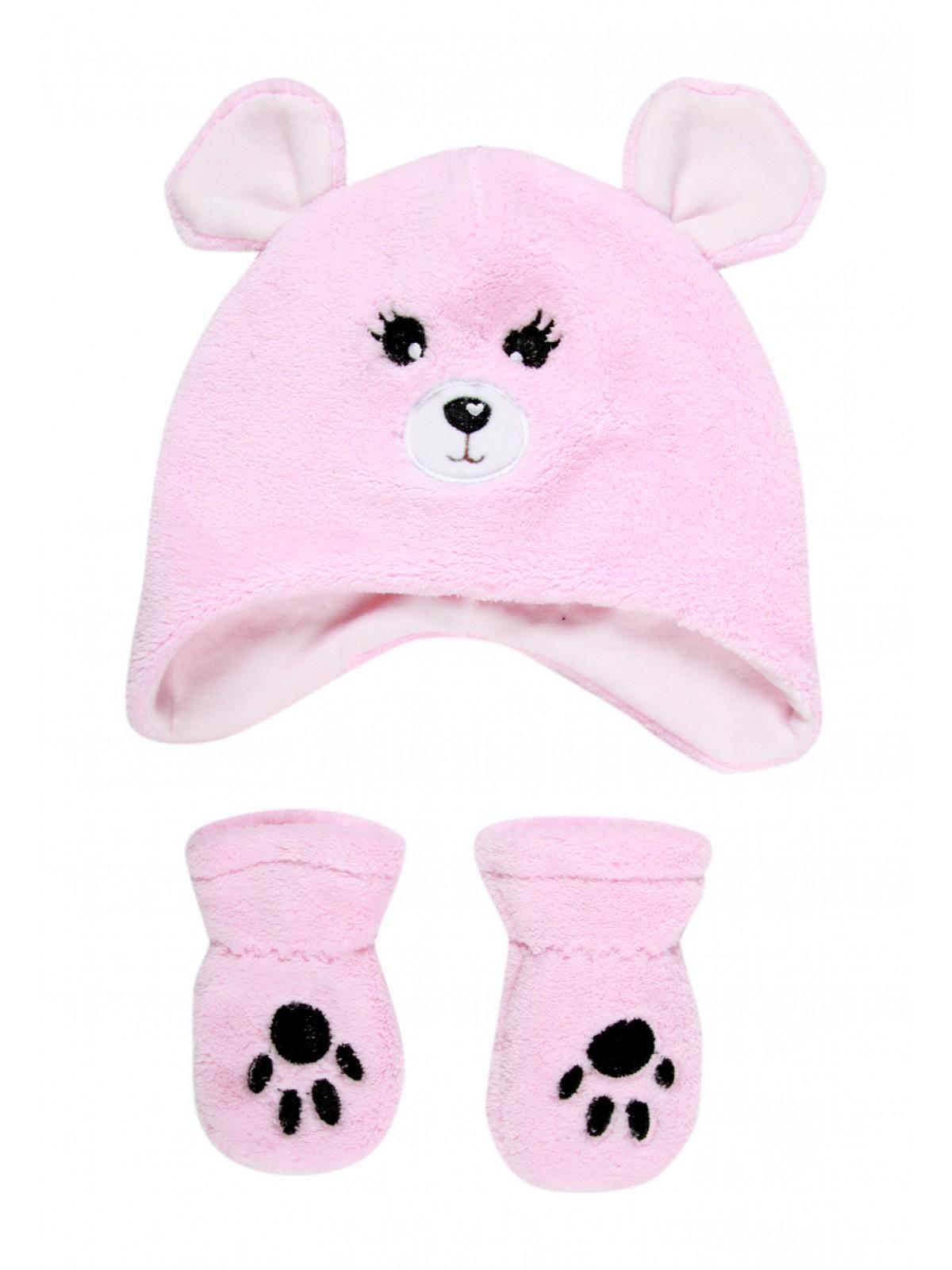 Baby Girls Fleece Hat and Mittens Set  fc260e3d1b0