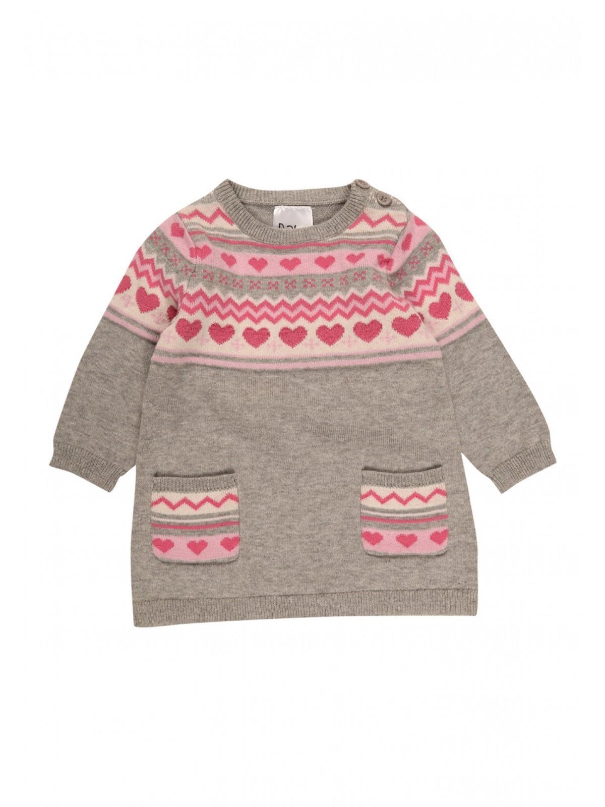 Baby Girls Knitted Fair Isle Dress