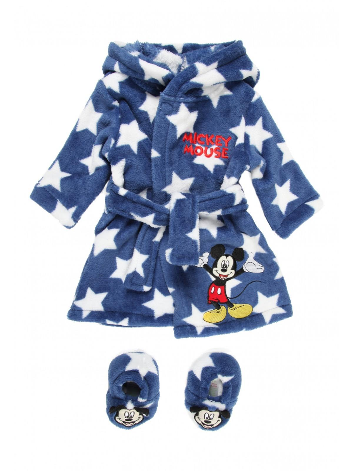 Boys aby Boys Disney Mickey Mouse Robe & Booties