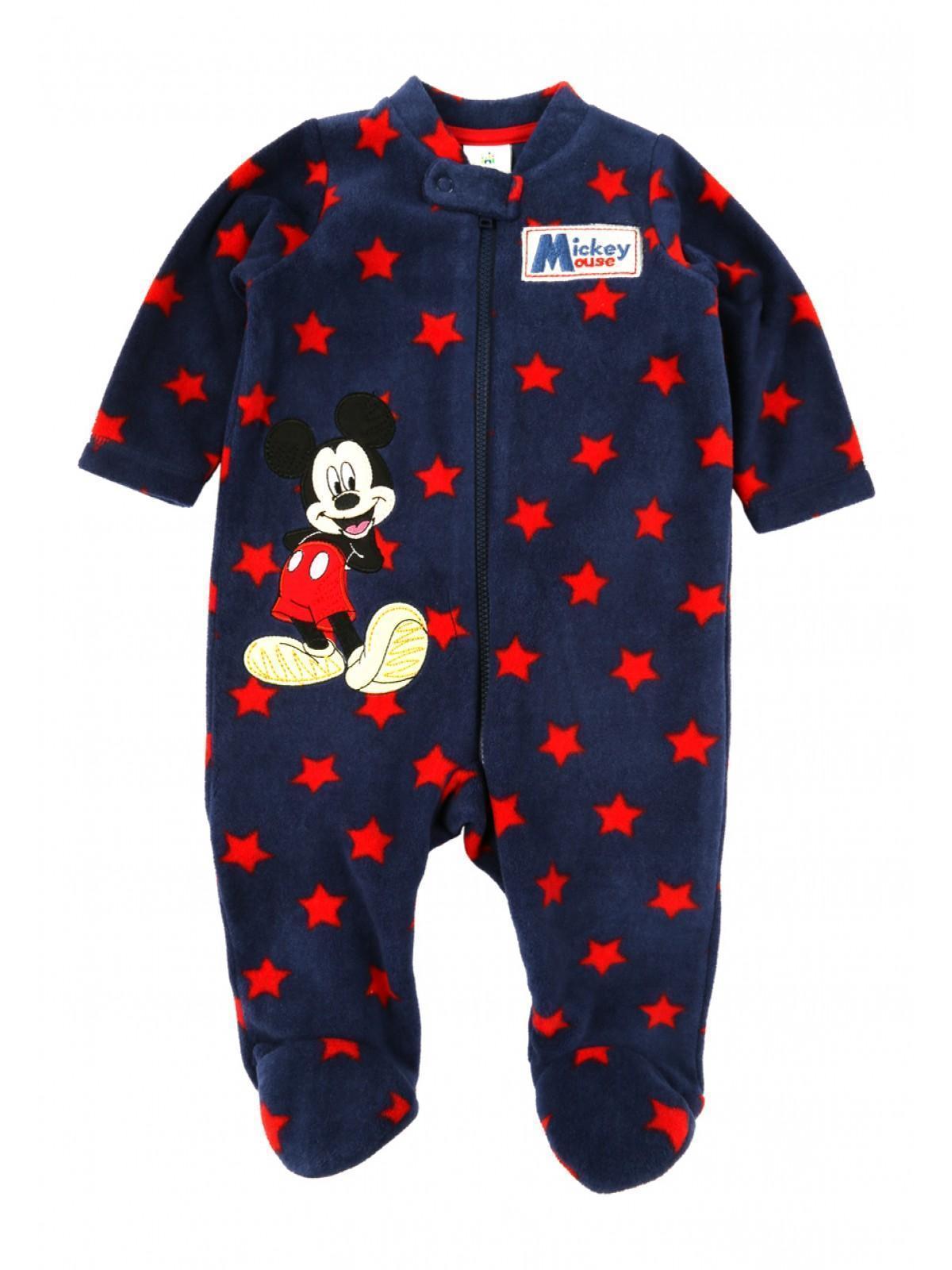 Baby Boys Disney Mickey Fleece Sleepsuit
