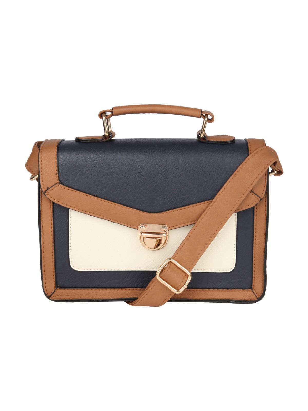 Womens Pushlock Small Satchel Bag | Peacocks