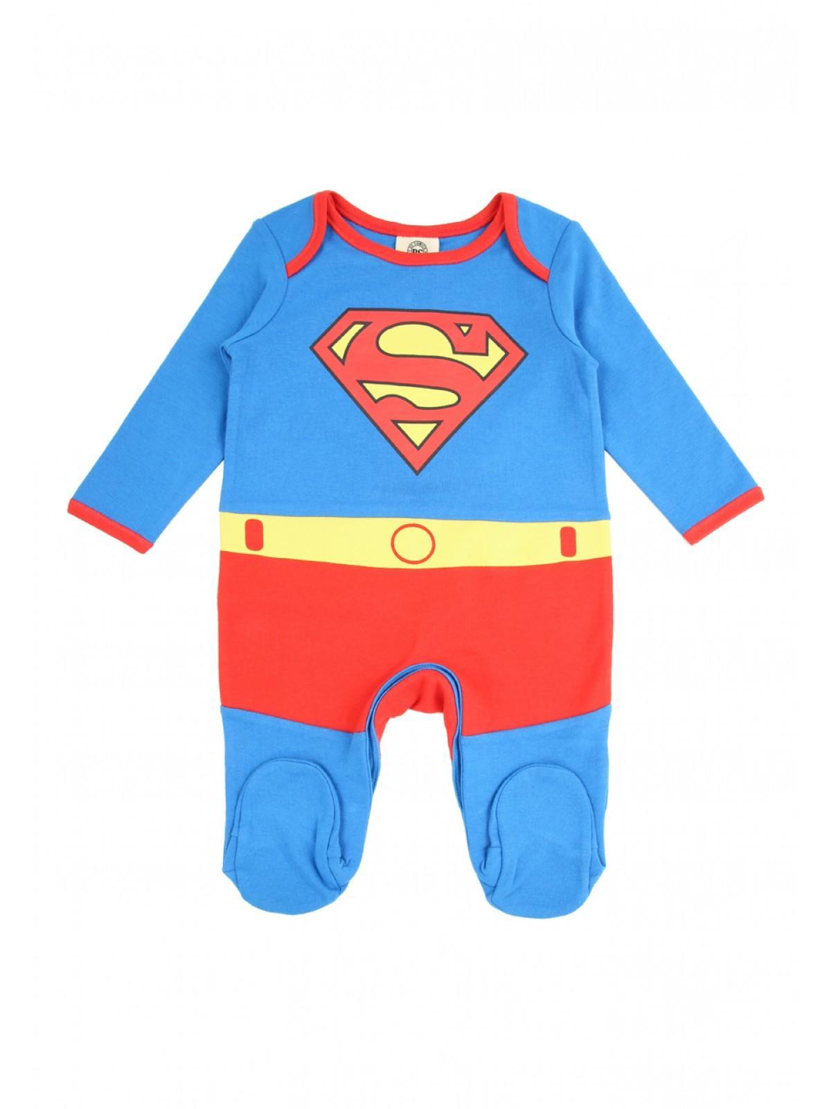 ccb1b89455f4 Boys aby Boy Superman Sleepsuit
