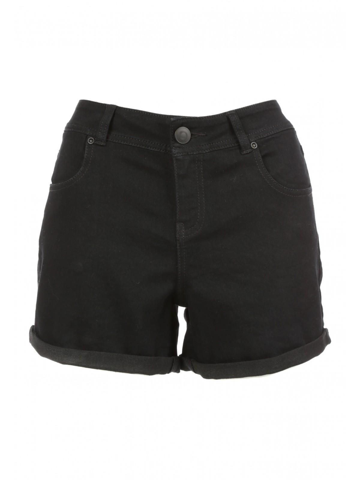 Black Denim Shorts For Women - The Else