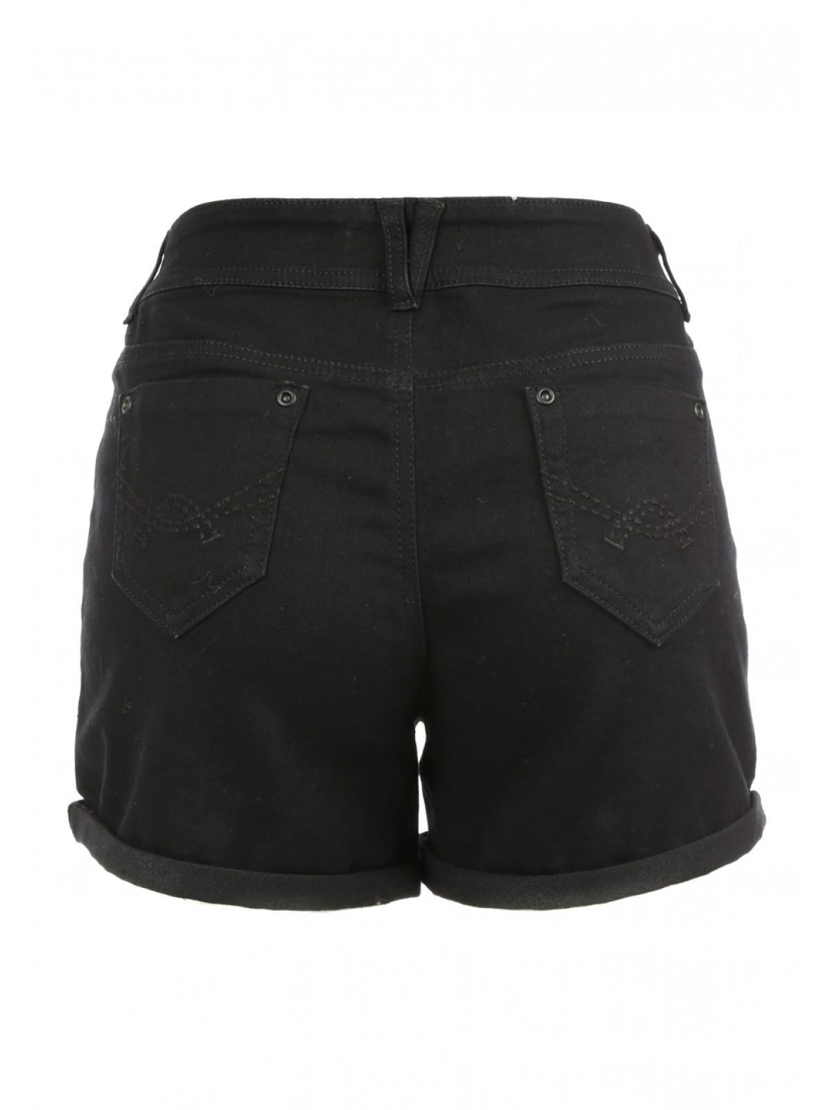 Black Denim Shorts Women - The Else