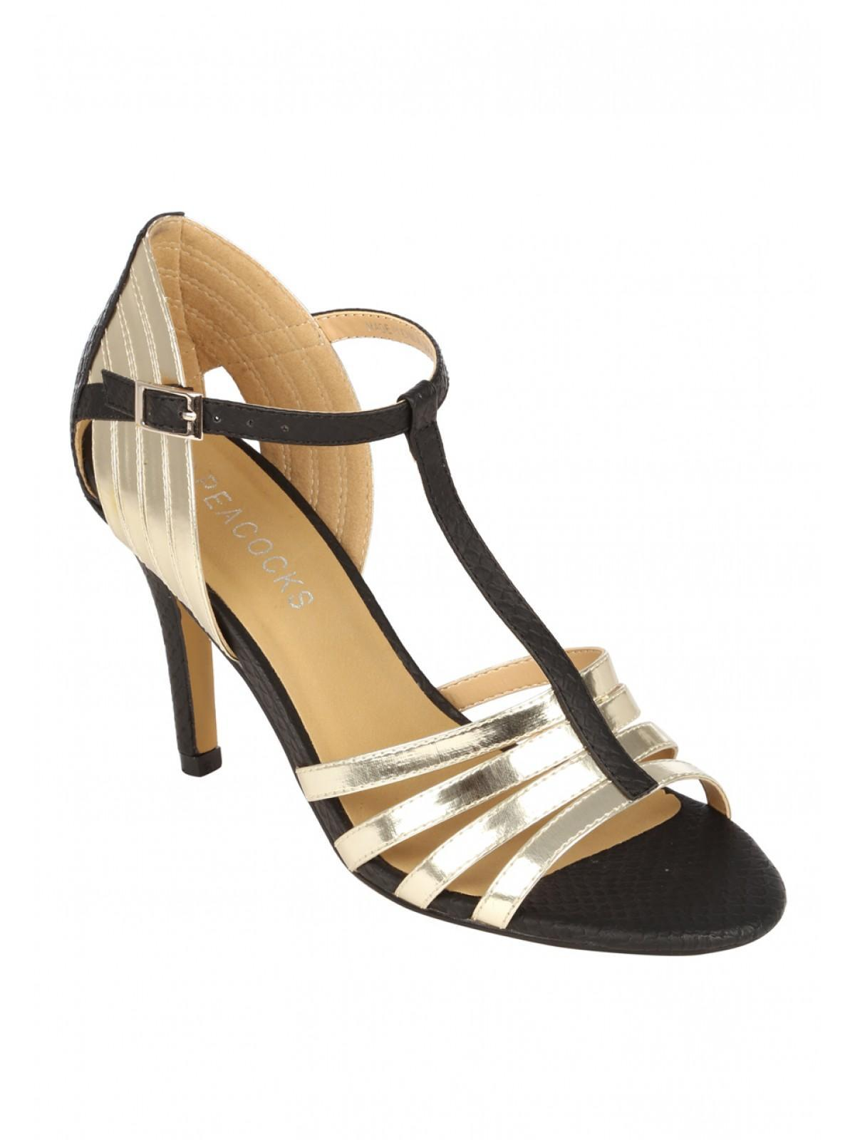 Black sandals gold bar - Black Sandals Gold Bar 10