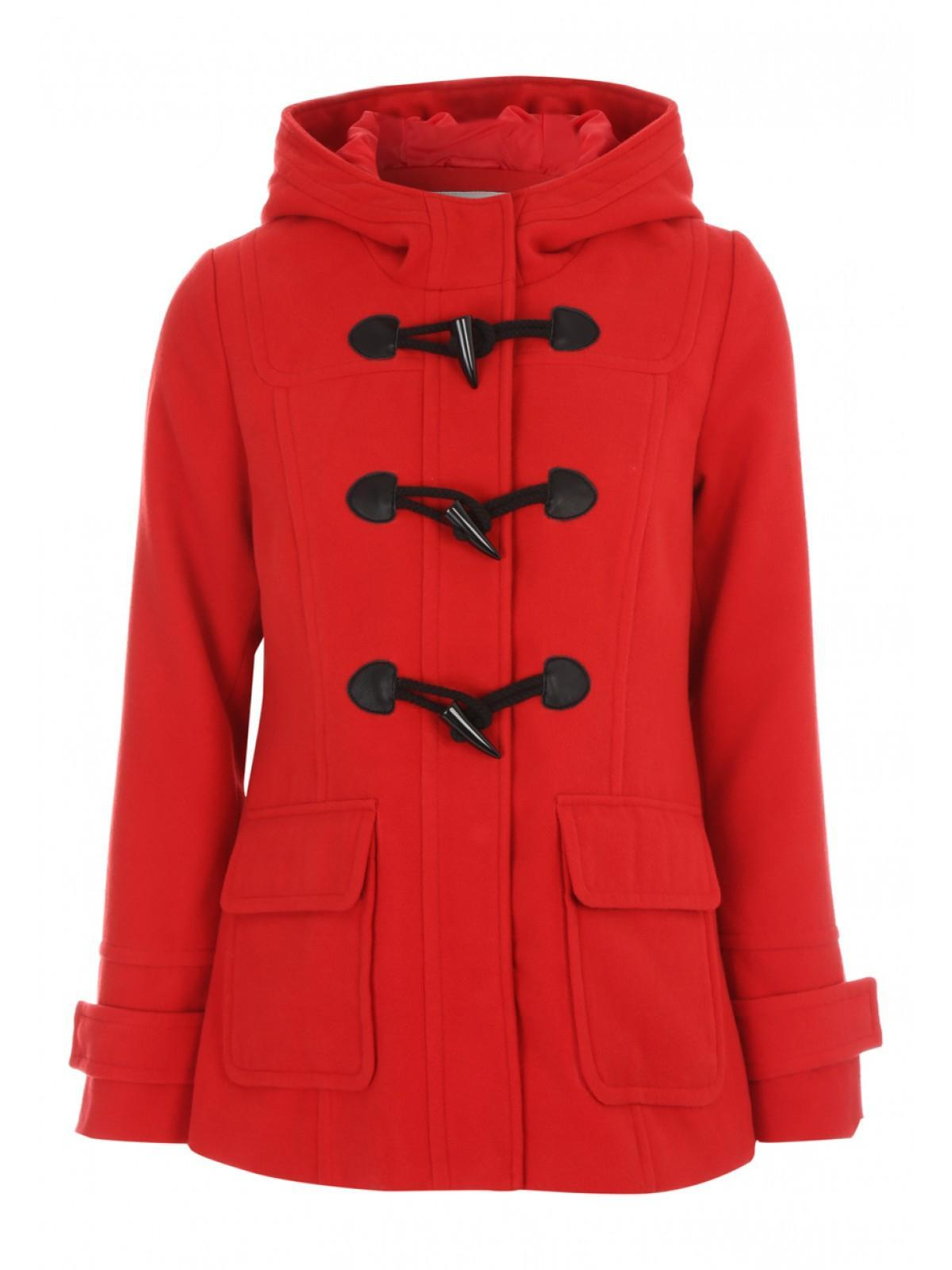 Womens Red Duffle Coat | Down Coat