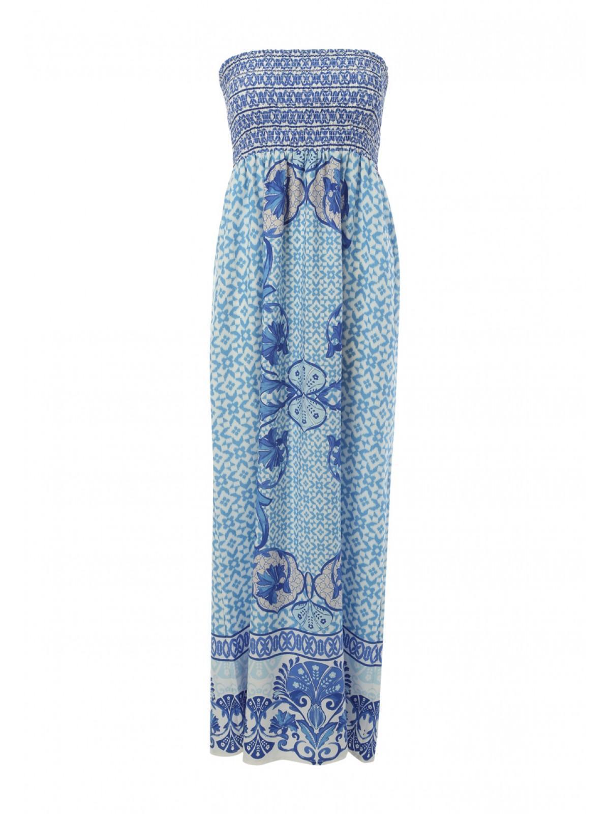 01b7a59a24 Home; Womens Shirred Bandeau Maxi Dress. Back. PreviousNext