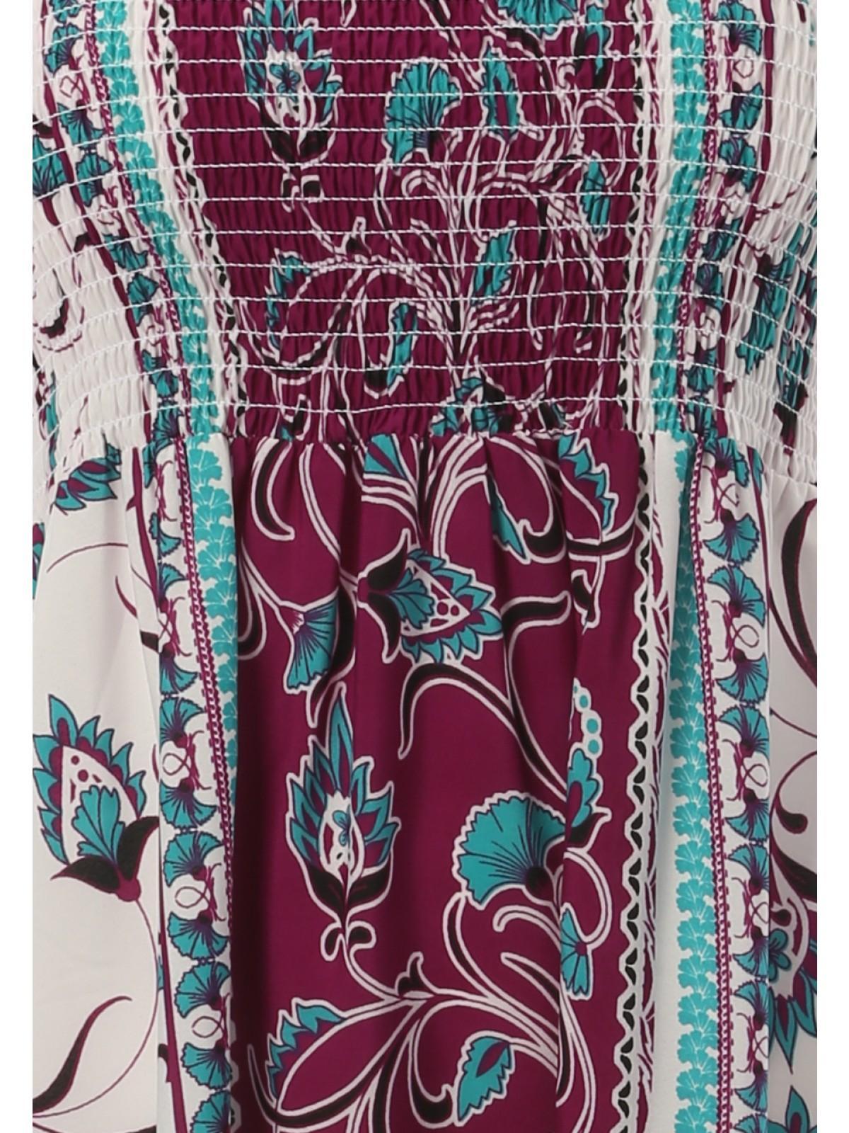 Shirred bandeau maxi dress