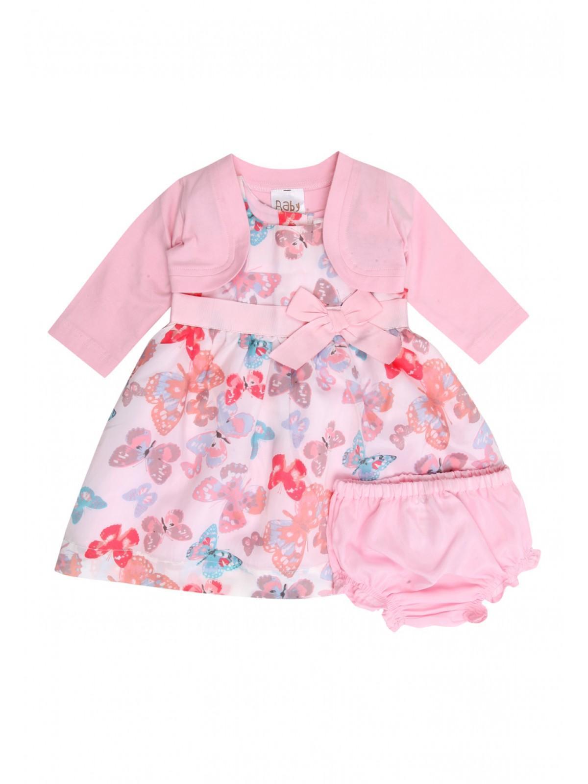 Womens Baby Girls Butterfly Dress Shrug Set Peacocks