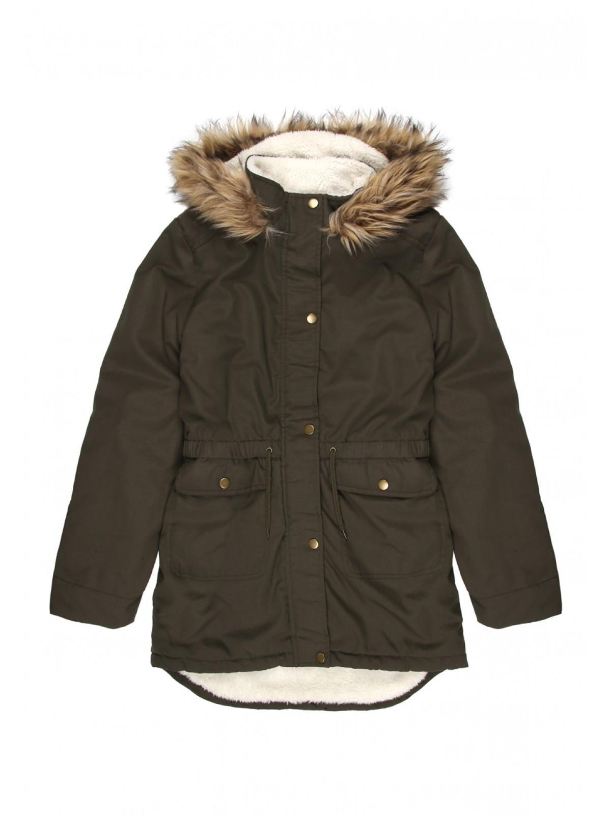 Girls Older Girls Khaki Parka Jacket | Peacocks