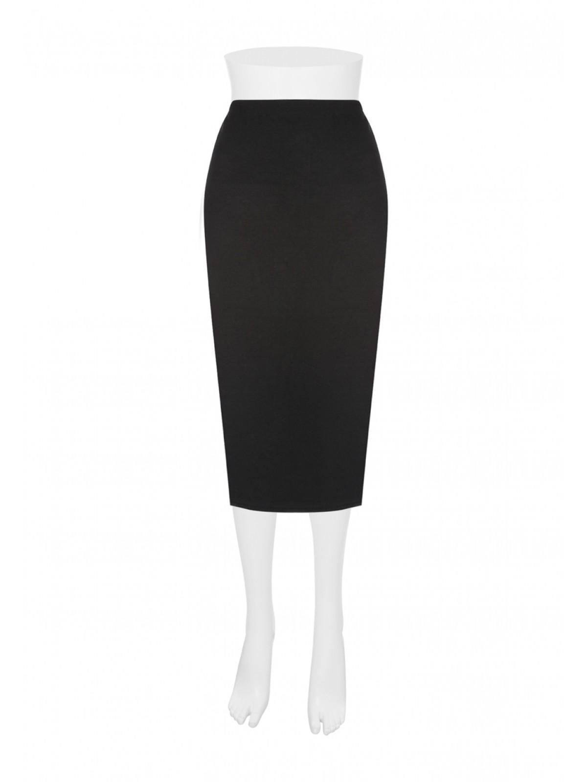 Womens Plain Black Pencil Skirt | Peacocks
