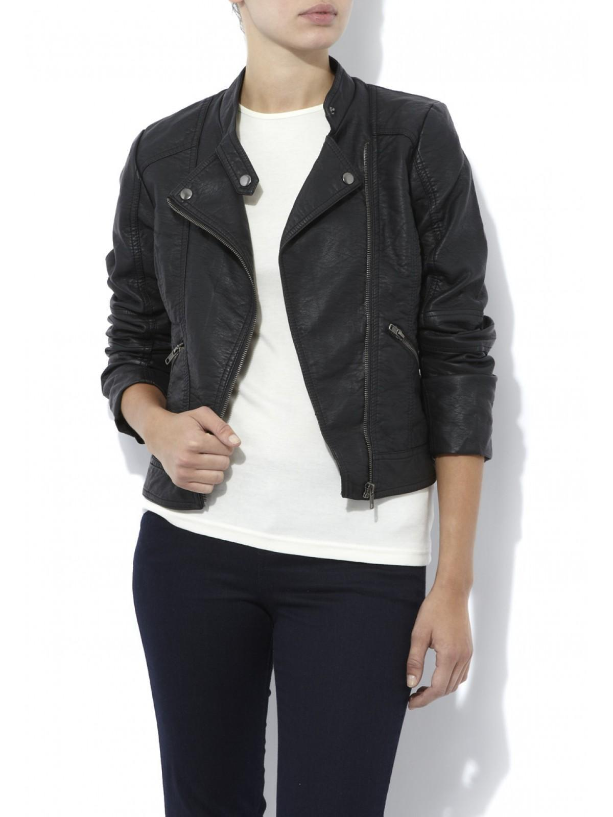 f328d643b91c Home; Womens Leather Look Biker Jacket. Back. PreviousNext