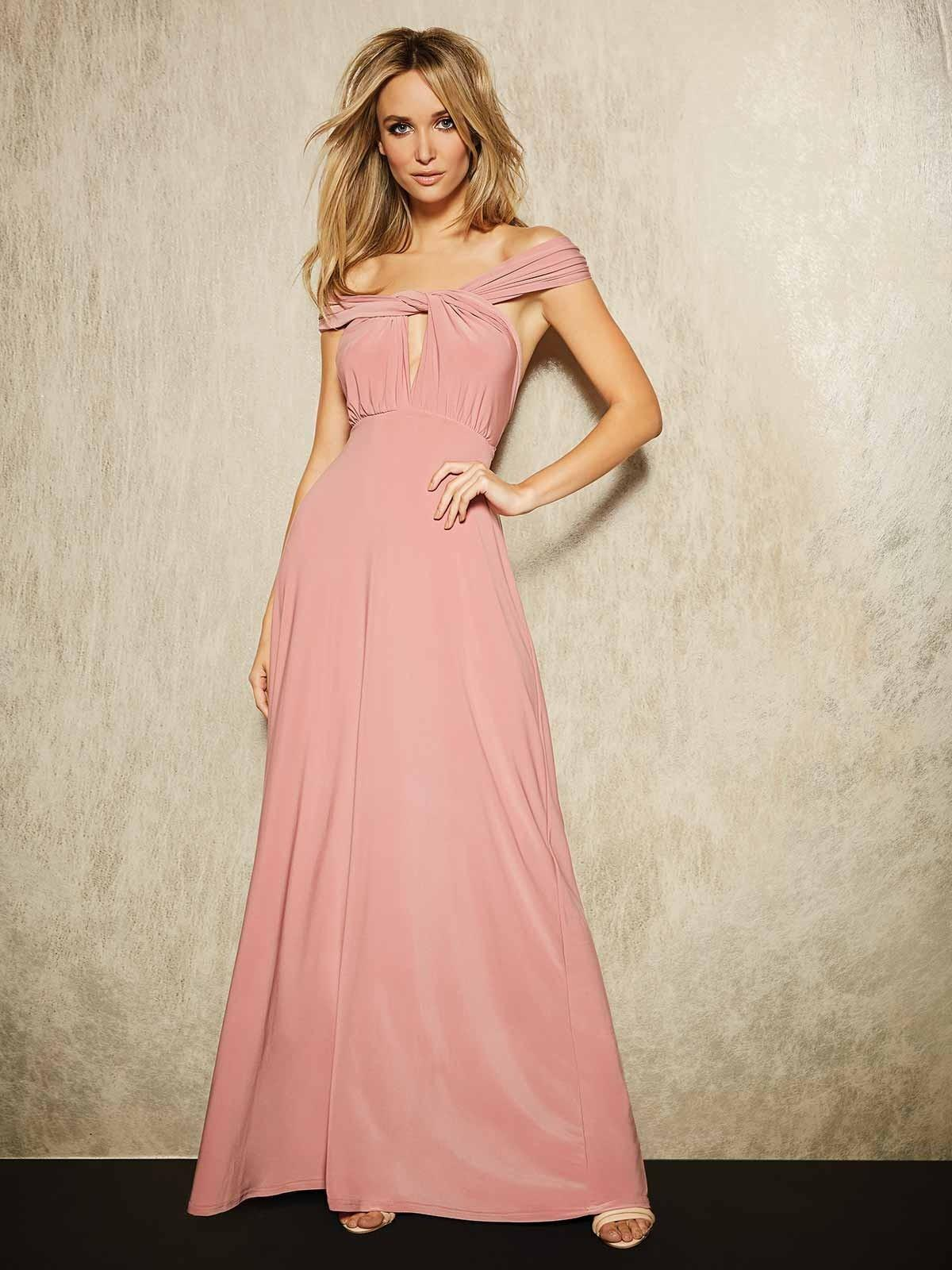 99af9beacc Womens ENVY Pink Multiway Maxi Dress | Peacocks