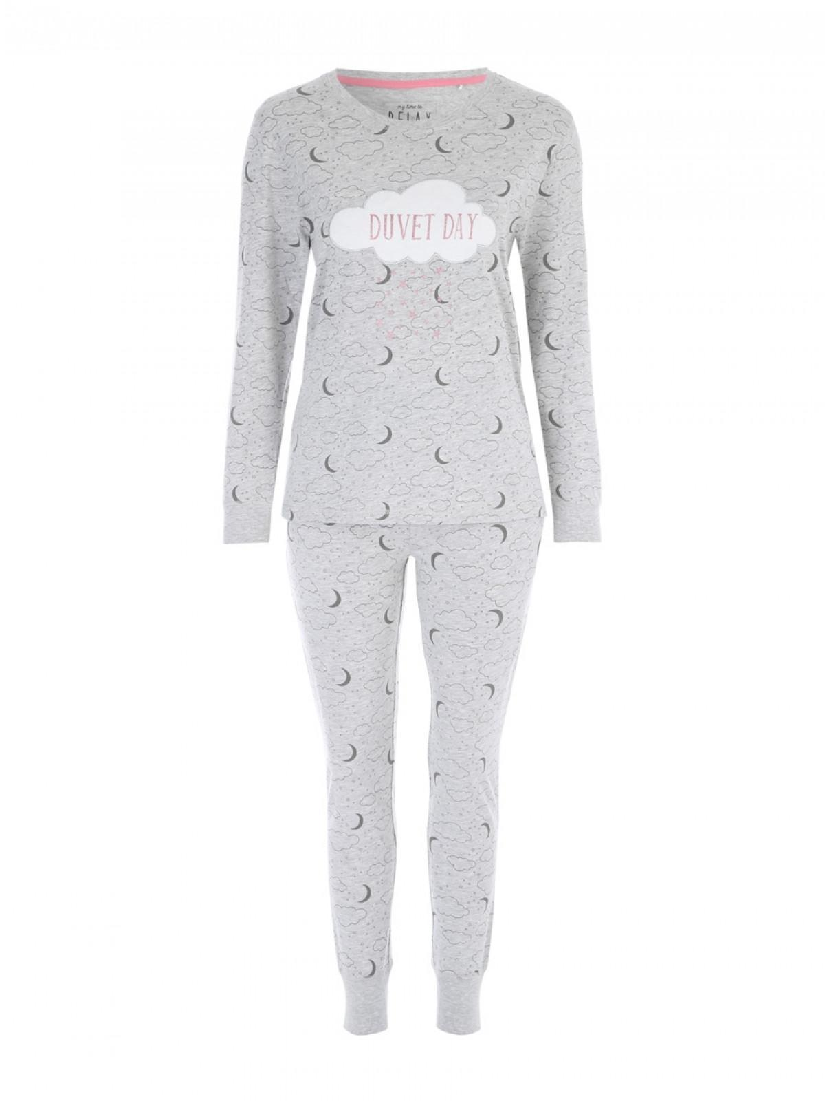 enjoy clearance price order online lace up in Womens Grey Duvet Day Pyjamas   Peacocks