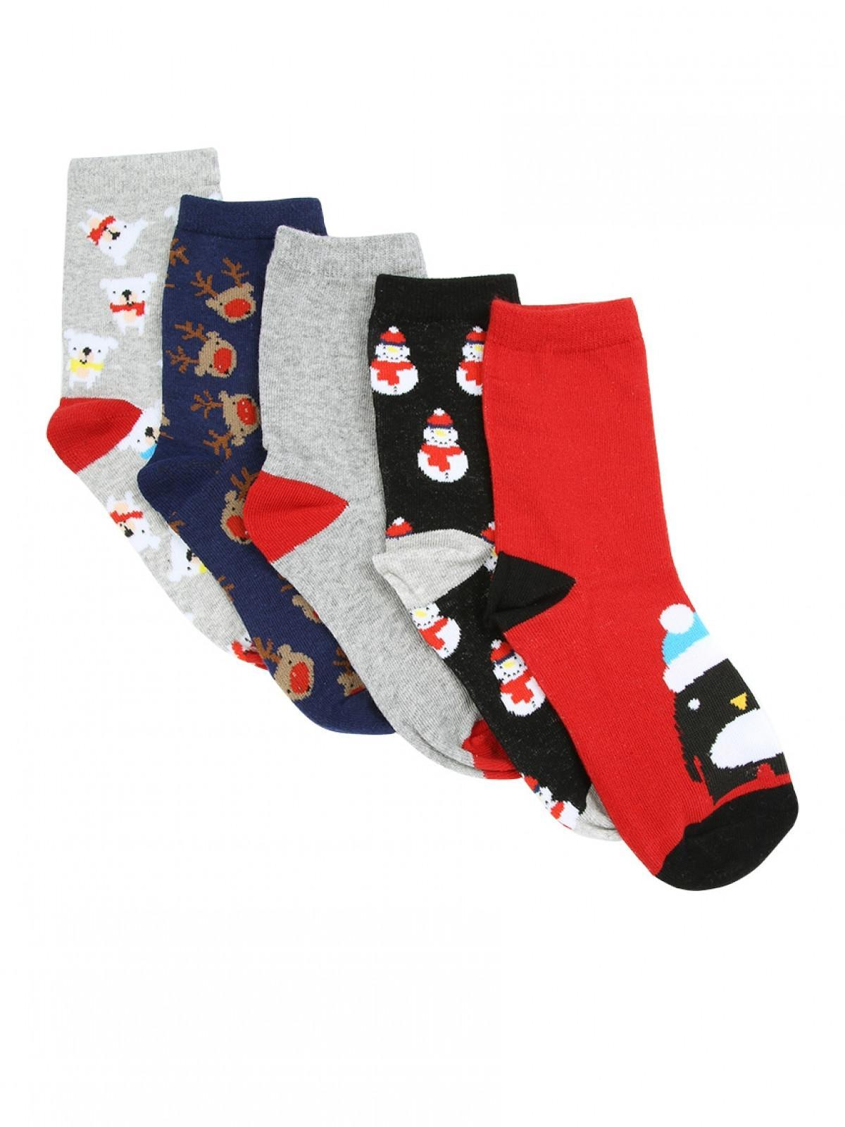 Boys Christmas Socks.Boys 5pk Black Christmas Socks Peacocks