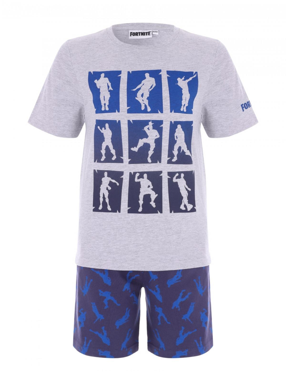 big discount of 2019 pretty cool clearance sale Older Boys Blue Fortnite Top and Shorts Pyjama Set | Peacocks