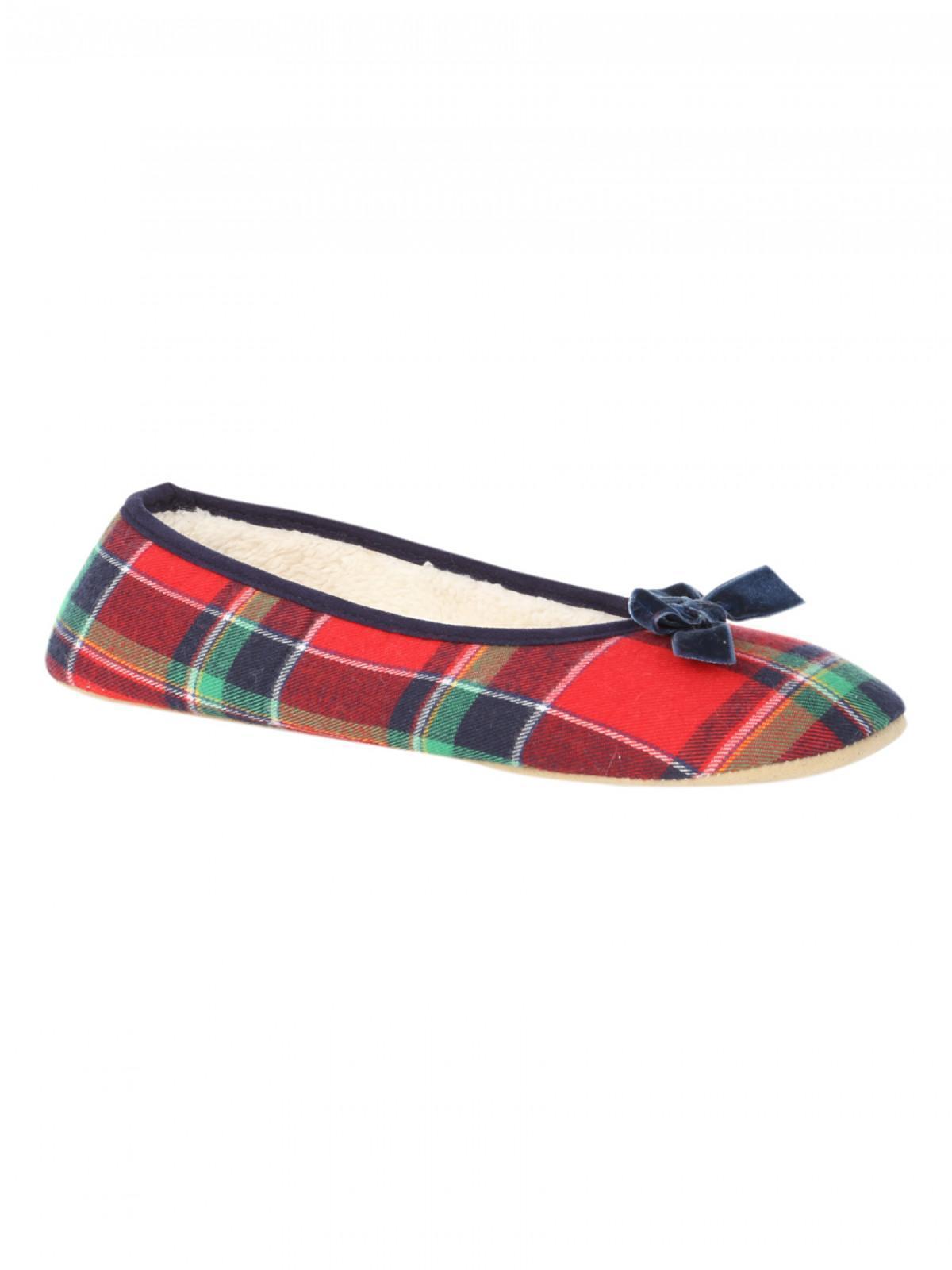 """Ladies /""""Tartan/"""" Ballet Slippers"""