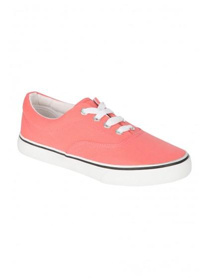 Older Girls Lace Up Canvas Shoes