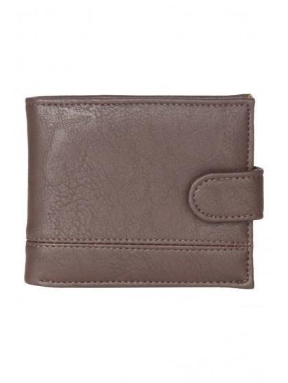 Mens Embossed Popper Wallet