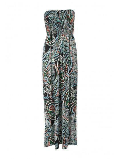 Womens Bandeau Maxi Dress