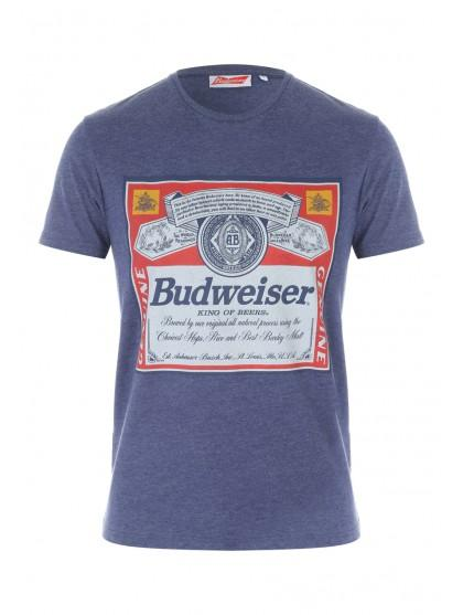 d2e3f982 Home; Mens Dark Blue Budweiser T Shirt. Back. PreviousNext