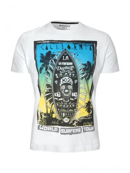 Mens California Skull Print T-shirt