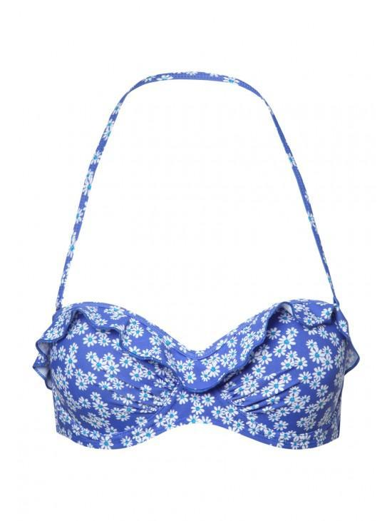 Womens Frill Bandeau Top