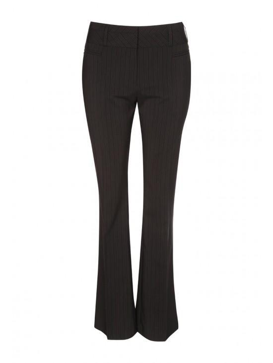 Womens Stripe Bootcut Trousers