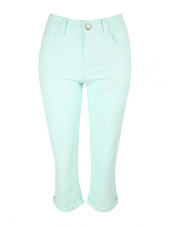 Womens Coloured Crop Jeans