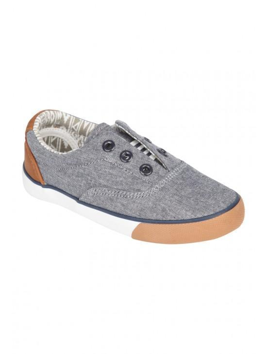 Young Boys No Laces Canvas Ethan Shoe