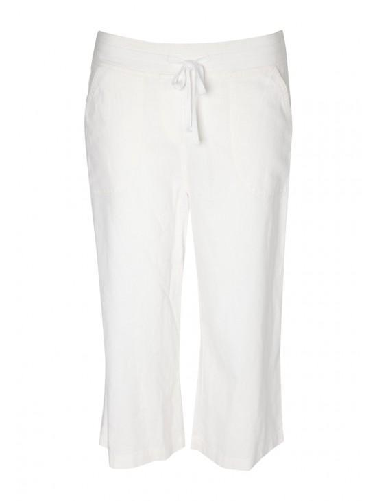 Womens Crop Linen Trousers