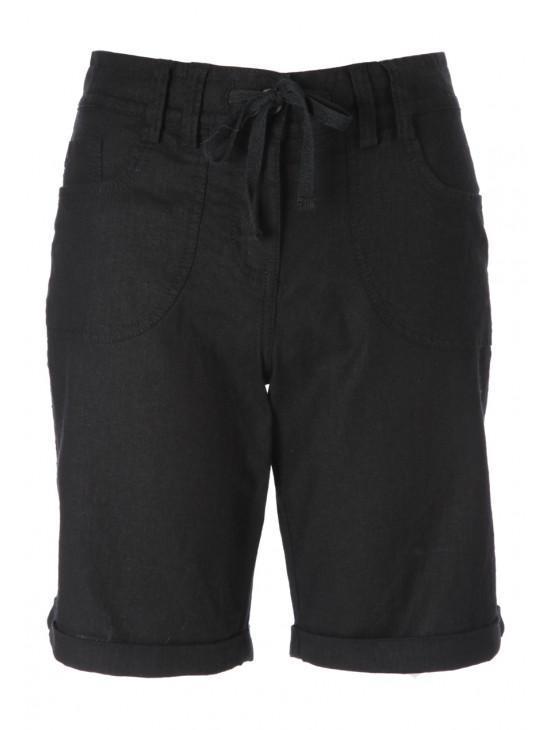 Womens Drawstring Linen Shorts