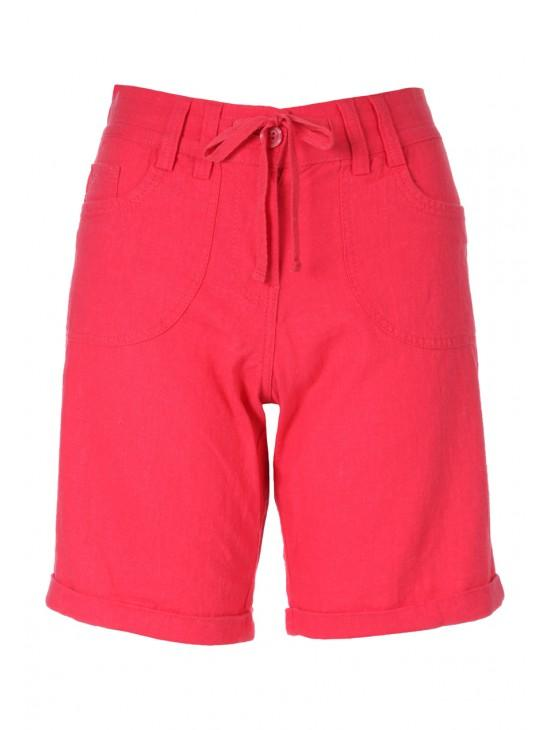 Womens Drawstring Linen Shorts