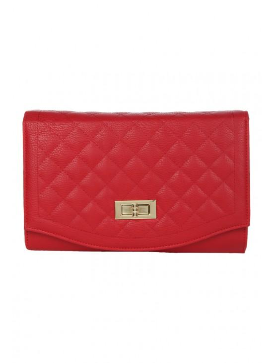Womens Quilted Clutch Bag