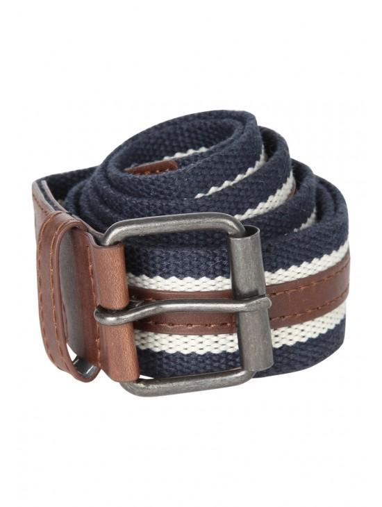 Mens PU Stripe Belt