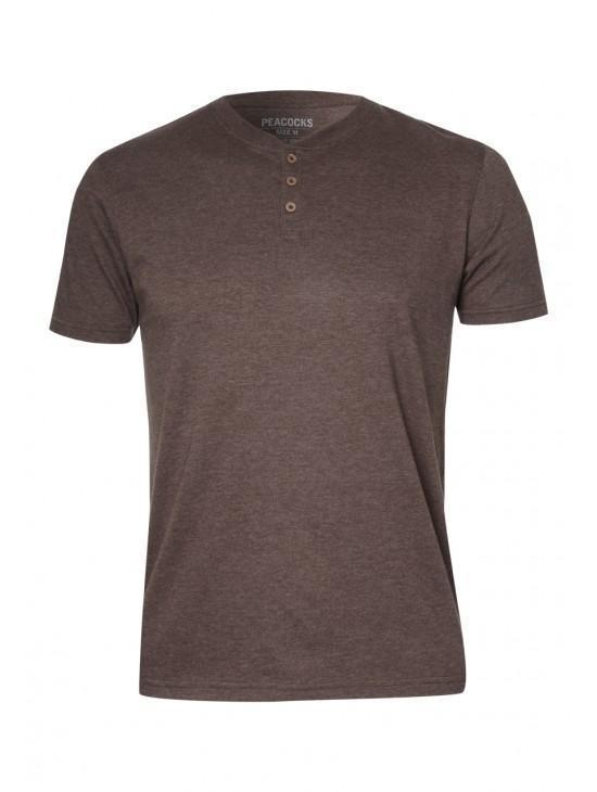 Mens Button T-shirt