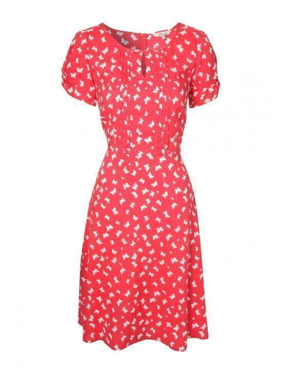 Womens Printed Tea Dress