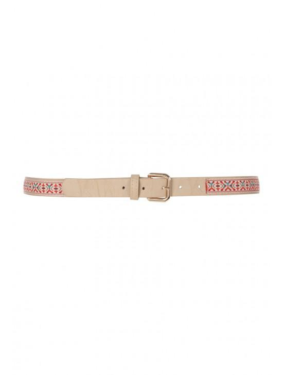 Womens Aztec Embroidered Belt