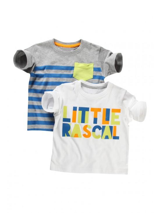 Younger Boys 2 Pack 'Little Rascal' T-shirts
