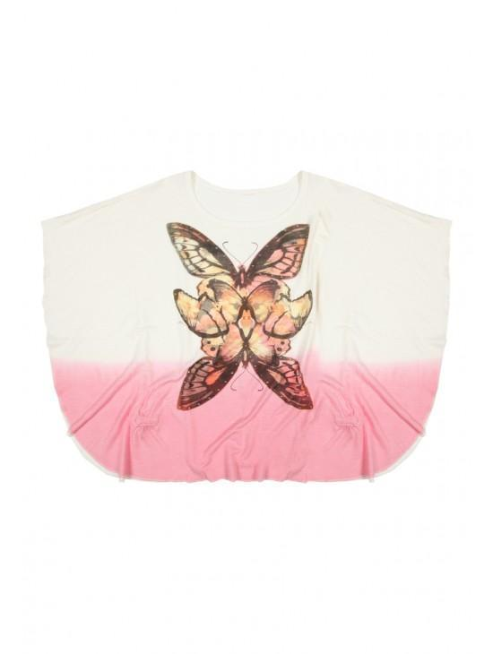 Older Girls Butterfly Cape T-shirt