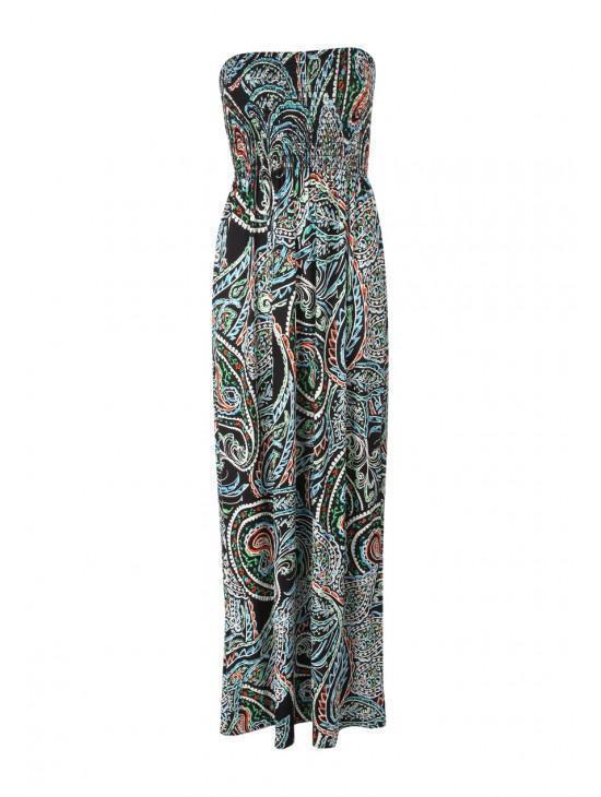 Womens Bandeau Maxi Dress