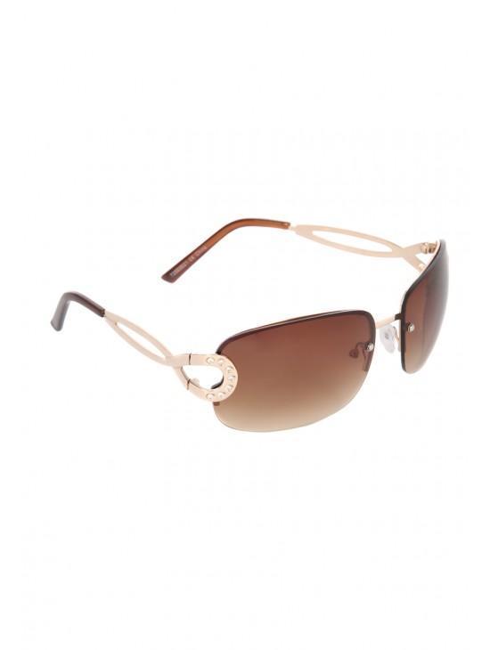 Womens Gold Frameless Sunglasses Peacocks