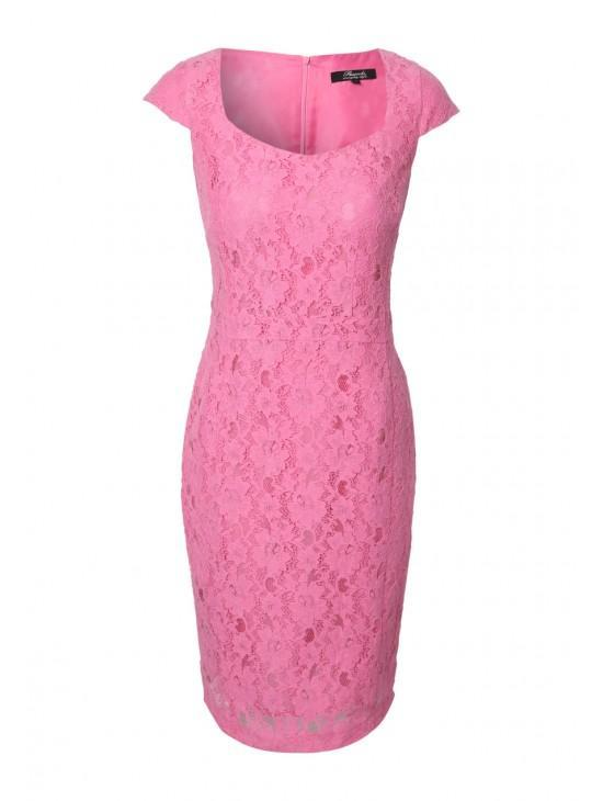Womens Lace Pencil Dress