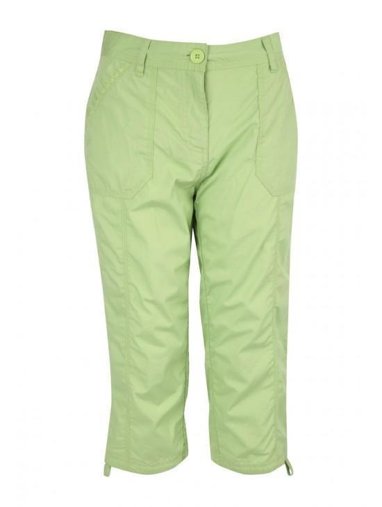 Womens Cropped Poplin Trousers
