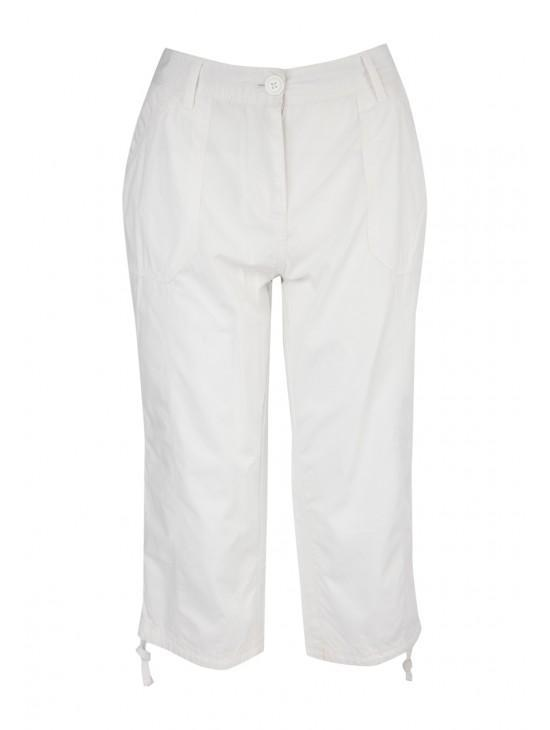Womens Cropped Poplin Trousers