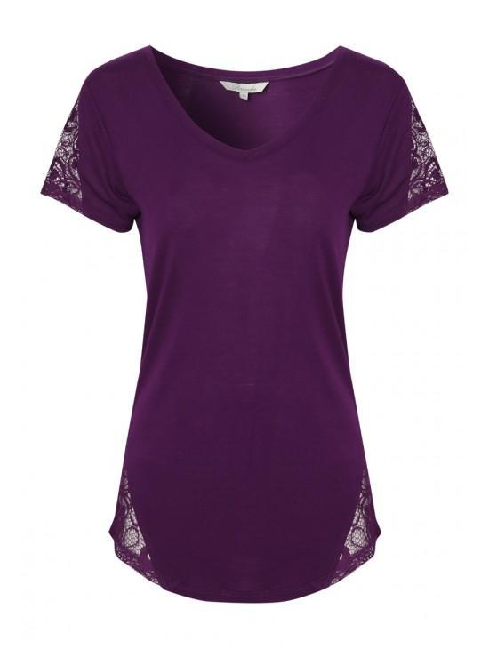 Womens Lace Panel T-shrit