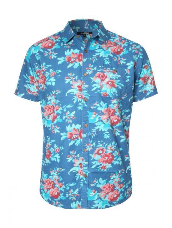 Mens Short Sleeve Hawaiian Shirt